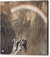 The Rhine S Fair Children Bewailing Their Lost Gold Weep Acrylic Print by Arthur Rackham