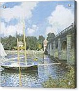 The Road Bridge At Argenteuil Acrylic Print by Claude Monet