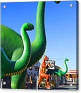 The Rock Shop Just Off Route 66 Acrylic Print by Mike McGlothlen