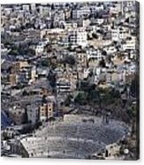 The Roman Theatre In The Middle Of The City Of Amman Jordan Acrylic Print by Robert Preston
