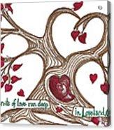 The Roots Of Love Acrylic Print by Minnie Lippiatt