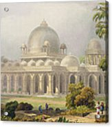 The Roza At Mehmoodabad In Guzerat, Or Acrylic Print by Captain Robert M. Grindlay