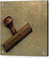 The Rubber Stamp Acrylic Print by Bob RL Evans