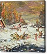 The Russian Winter Acrylic Print by Konstantin Korovin
