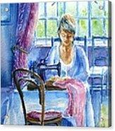 The Seamstress Acrylic Print by Trudi Doyle
