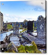 The Seven Churches Ruins On Inis Mor Acrylic Print by Mark E Tisdale