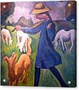 The Shepherdess Acrylic Print by Roger de La Fresnaye