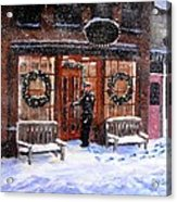 The Shiver And Shake Watch On Christmas Eve Acrylic Print by Jack Skinner