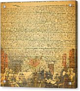 The Signing Of The United States Declaration Of Independence Acrylic Print by Wingsdomain Art and Photography