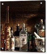 The Snake Oil Shop Acrylic Print by Olivier Le Queinec