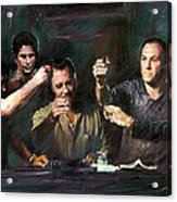 The Sopranos Acrylic Print by Viola El