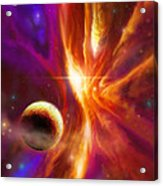 The Spirit Realm Of The Saphire Nebula Acrylic Print by James Christopher Hill