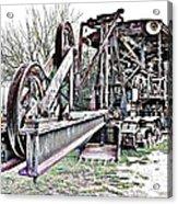 The Steam Shovel Acrylic Print by Glenn McCarthy Art and Photography