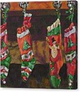 The Stockings Acrylic Print by Gloria  Nilsson