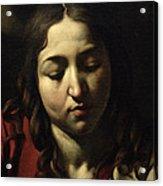 The Supper At Emmaus Acrylic Print by Michelangelo Merisi da Caravaggio
