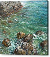 The Surf Acrylic Print by Korobkin Anatoly