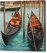 The Symbols Of Venice Acrylic Print by Kiril Stanchev