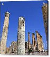 The Temple Of Artemis At Jerash Jordan Acrylic Print by Robert Preston