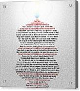 The Ten Commandments Acrylic Print by Emanuel Asante Jr