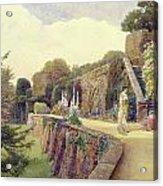 The Terrace At Berkeley Castle Acrylic Print by George Samuel Elgood