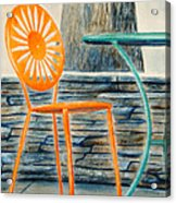 The Terrace Chair Acrylic Print by Thomas Kuchenbecker