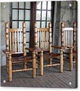 The Three Chairs Acrylic Print by Denyse Duhaime