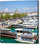 The Town And Port Of La Rochelle Acrylic Print by Nila Newsom