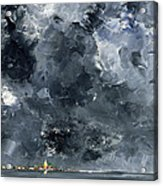 The Town Acrylic Print by August Johan Strindberg