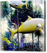 The Tree Fishes ... Acrylic Print by Vladimir Zoteev