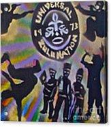 The Universal Zulu Nation Acrylic Print by Tony B Conscious