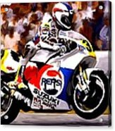 The Unleashing   Kevin Schwantz Acrylic Print by Iconic Images Art Gallery David Pucciarelli