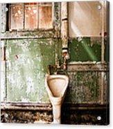 The Urinal Acrylic Print by Gary Heller