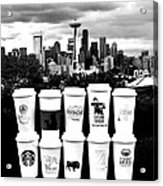 The Usual Seattle Suspects Acrylic Print by Benjamin Yeager