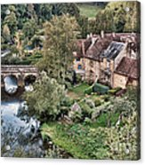 The Village Acrylic Print by Olivier Le Queinec