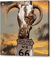 The Warmth Of Route 66 Acrylic Print by Mike McGlothlen