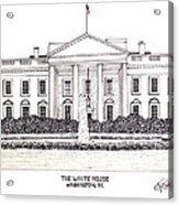 The White House Acrylic Print by Frederic Kohli