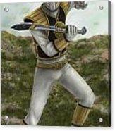 The White Ranger Acrylic Print by Michael Tiscareno