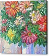 The White Vase Acrylic Print by Kendall Kessler