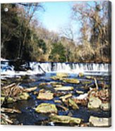The Wissahickon Creek In February Acrylic Print by Bill Cannon