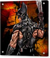 The Wolverine Acrylic Print by Pete Tapang