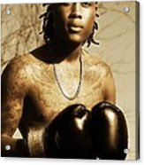 The Young Boxer Acrylic Print by Mountain Dreams