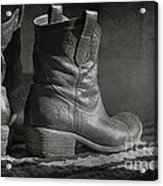 These Boots Acrylic Print by Terry Rowe