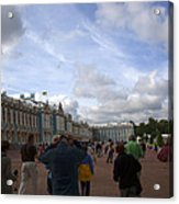 They Come To Catherine Palace - St. Petersburg - Russia Acrylic Print by Madeline Ellis