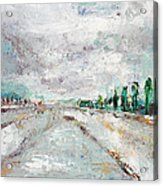 Thinking About Winter In Summer Time 1 Acrylic Print by Becky Kim