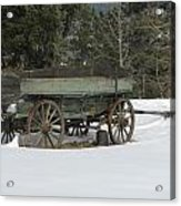 This Old Wagon Acrylic Print by Steven Parker