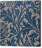 Thistle Design Acrylic Print by William Morris