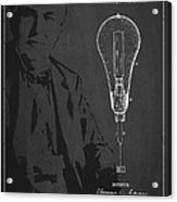 Thomas Edison Incandescent Lamp Patent Drawing From 1890 Acrylic Print by Aged Pixel