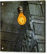 Thomas Edison Lightbulb Acrylic Print by Susan Candelario