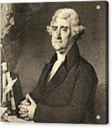 Thomas Jefferson Acrylic Print by American School