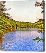 Thousand Trails Preserve Natchez Lake  Acrylic Print by Bob and Nadine Johnston